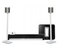 Sonos Home Theatre Pack with Sub & Play:1 on Stands
