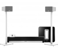 Sonos Home Theatre Pack with Sub & Play:3 on Stands
